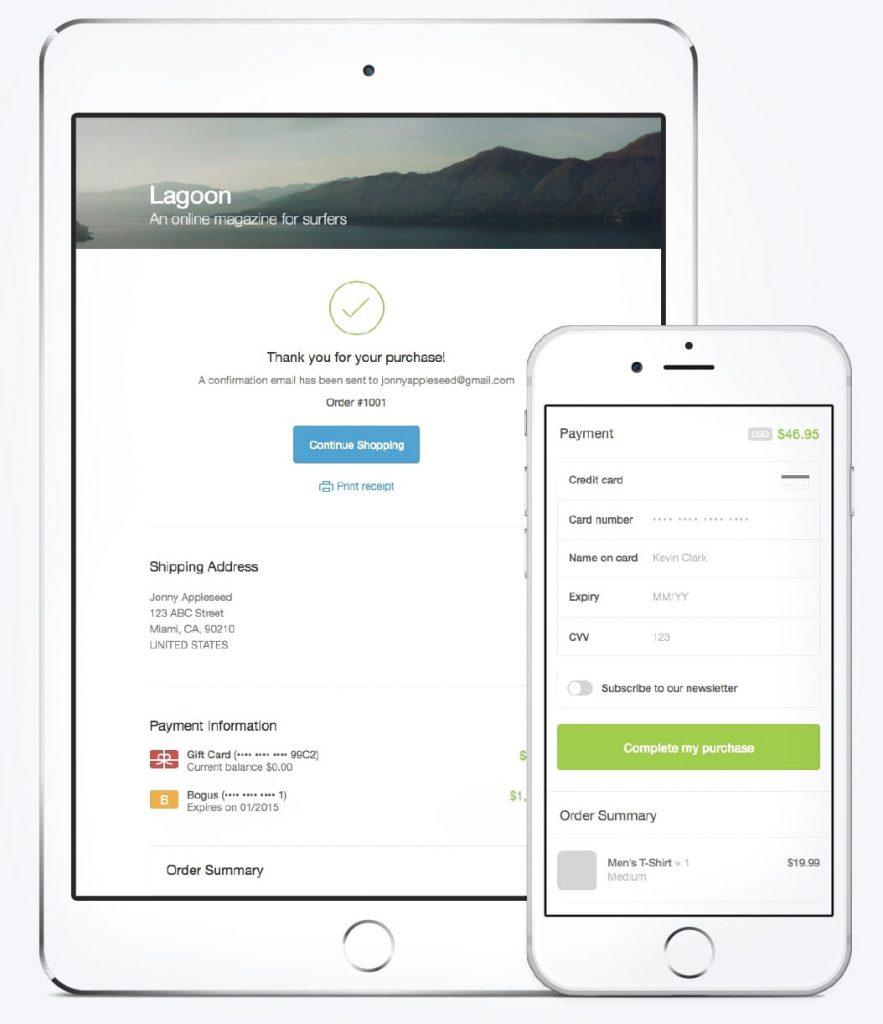responsive design Shopfy
