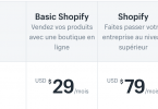 tarif shopify