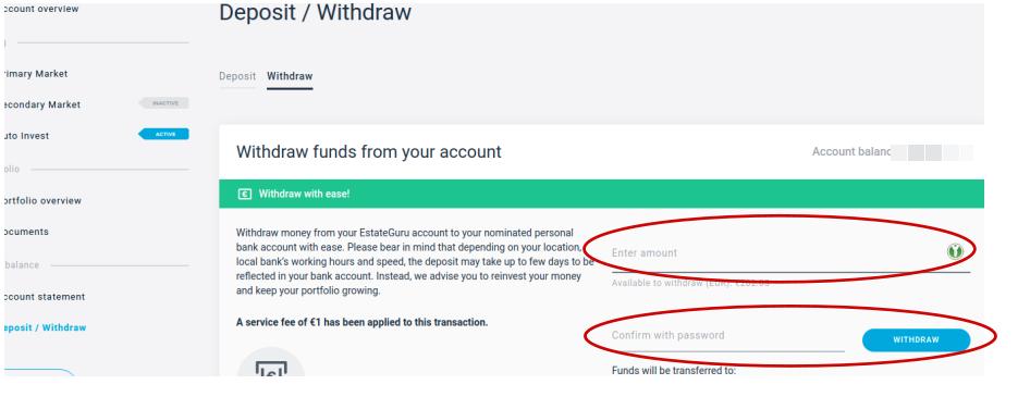Etape n°4 : Retirer ses fonds